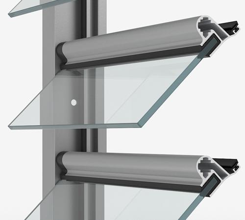 GP 3300 DETAIL - Glass Louvre System GP3300